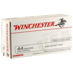 Munitions Winchester Calibre 44 Rem Magnum 240 grains JSP