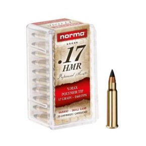 Munitions Norma 17 HMR V-Max