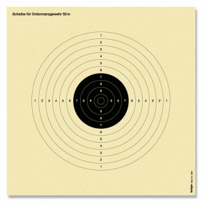 Cibles carabine 50 mètres (C50) réduite de 50% (Cible T.A.R)