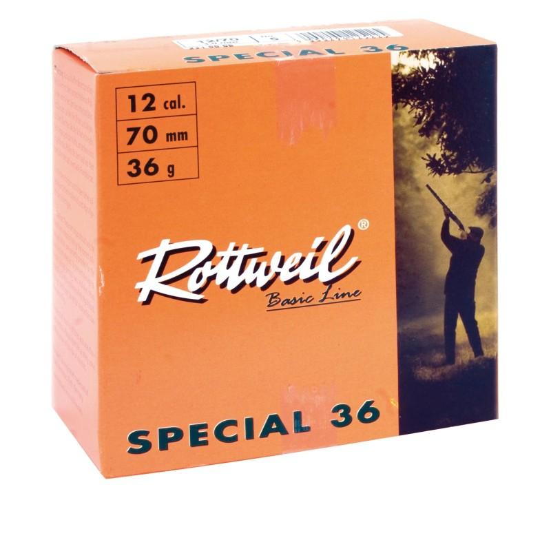 Cartouches Rottweil Spécial 36 calibre 12/70