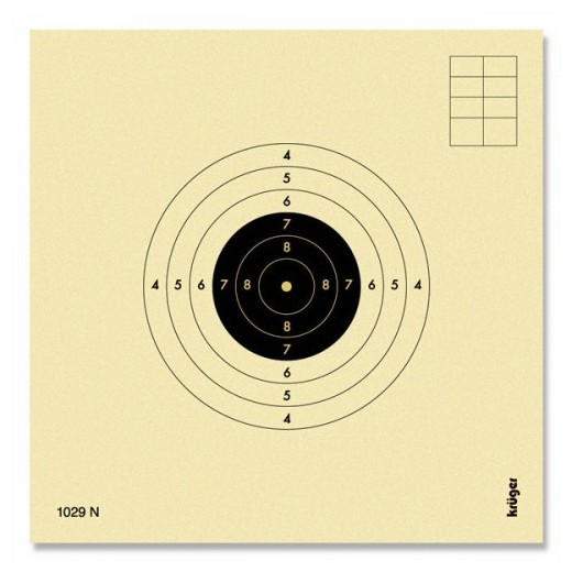 Cibles carabine 10 mètres numérotées UFOLEP KRUEGER