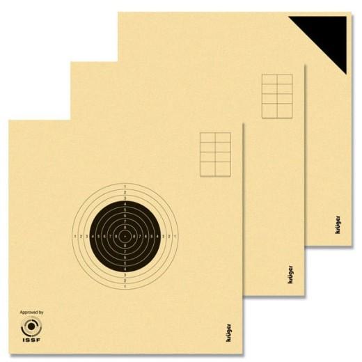 Cibles carabine 10 mètres ISSF KRUEGER (3 séries de 10 cibles + 4 essais) 3X10