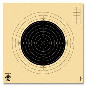 Cibles carabine 50 mètres numérotées ISSF KRUEGER