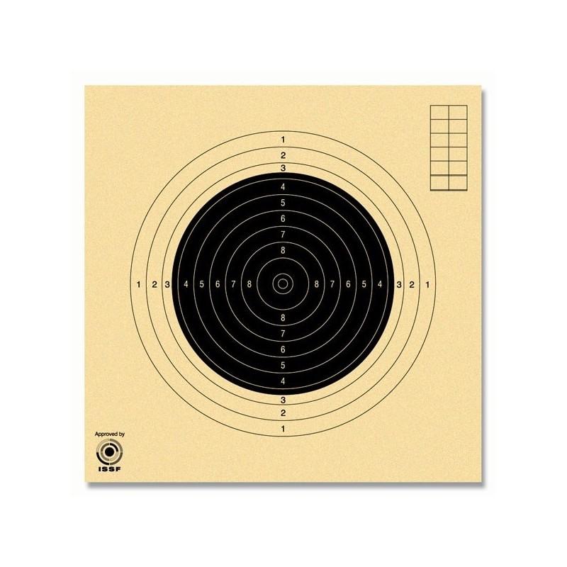 Cibles carabine 50 mètres numérotées ISSF GEF