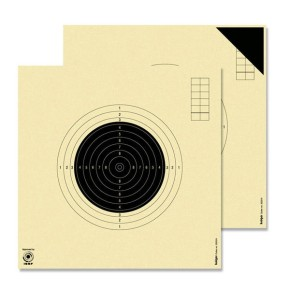 Cibles carabine 50 mètres ISSF KRUEGER (Série de 40 cibles + 4 essais)