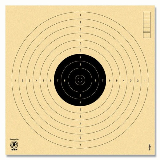 Cibles pistolet 10 mètres non numérotées ISSF KRUEGER