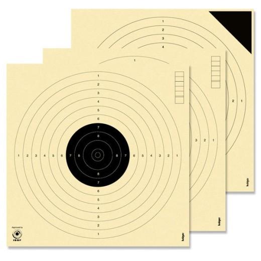 Cibles pistolet 10 mètres ISSF KRUEGER (Série de 10 cibles + 4 essais)