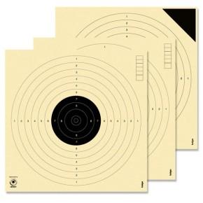 Cibles pistolet 10 mètres ISSF KRUEGER (Série de 30 cibles + 4 essais)