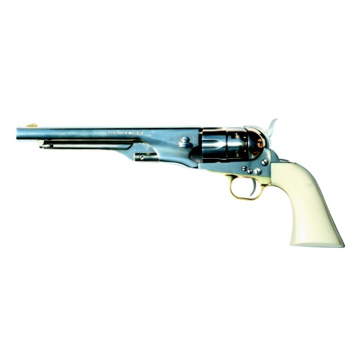 Revolver Pietta Modèle 1860 Army Acier Blanc calibre 44