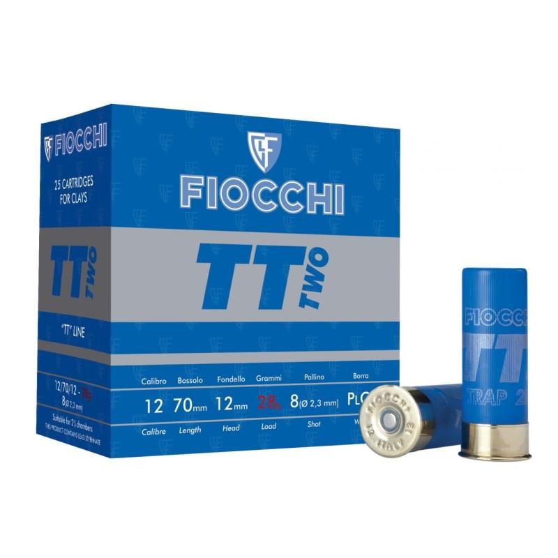Cartouches Fiocchi TT Two 28 grains calibre 12/70