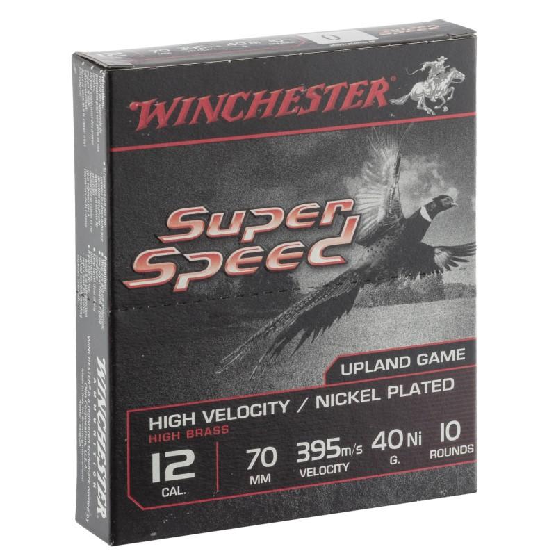 Cartouches Winchester Super Speed G2 Nickel 40 grains calibre 12/70